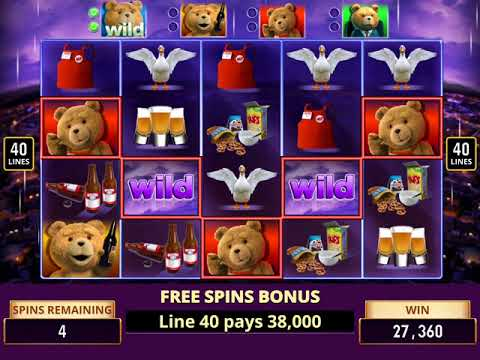 TED Video Slot Game with a THUNDER BUDDIES FREE SPIN BONUS