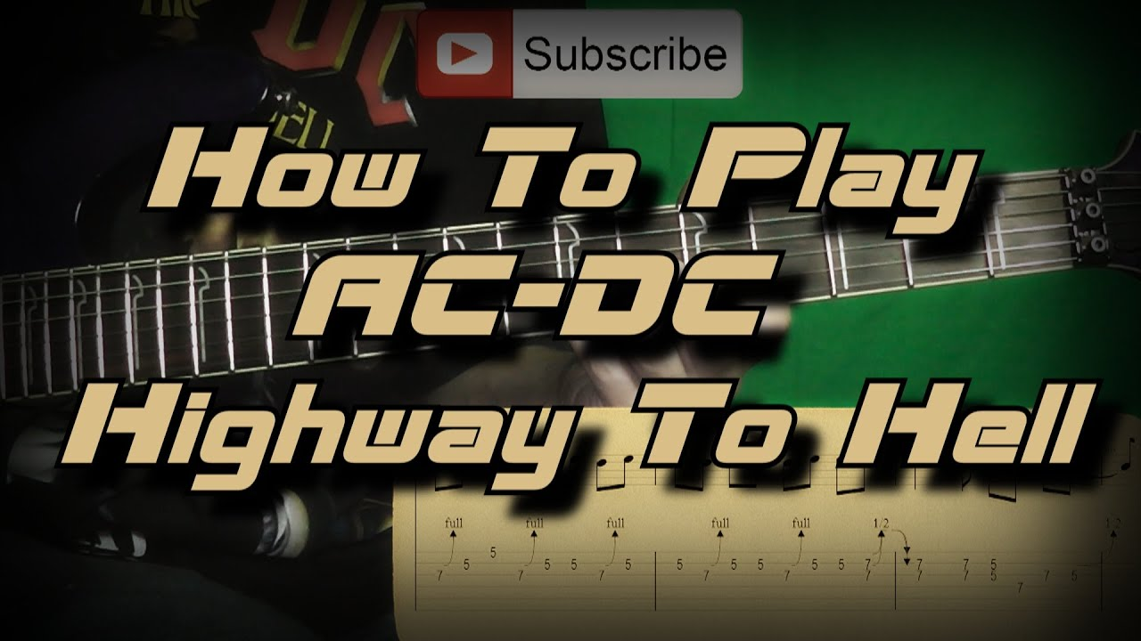 how to play ac dc highway to hell full song guitar lesson youtube. Black Bedroom Furniture Sets. Home Design Ideas