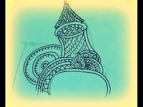 How to Draw Jewels - Kreedam/ Headgear / Crown(Part 2) - Tanjore Painting For Beginners
