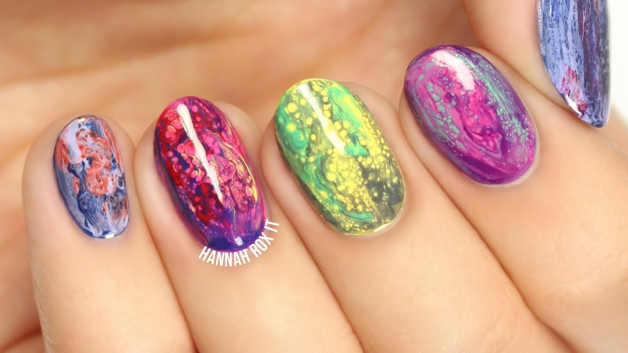 Fluid Nail Art Testing Sinful Colors Transforming Top Coats