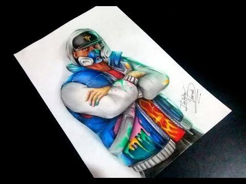 How To Draw Skin Fortnite Abstrakto Fan Art Keivin Art Drawing Illustration Speed Drawing