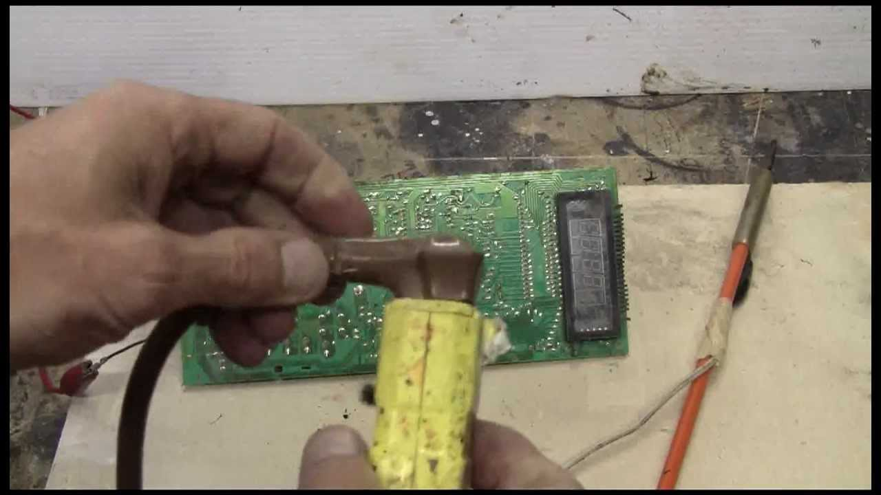 High Voltage Old Microwave Circuit Board Gets Fried Youtube Picture Of