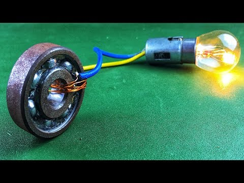 Смотреть Electric 2019 Free Energy Generator 100% Self Running With DC Motor Using Wheel онлайн