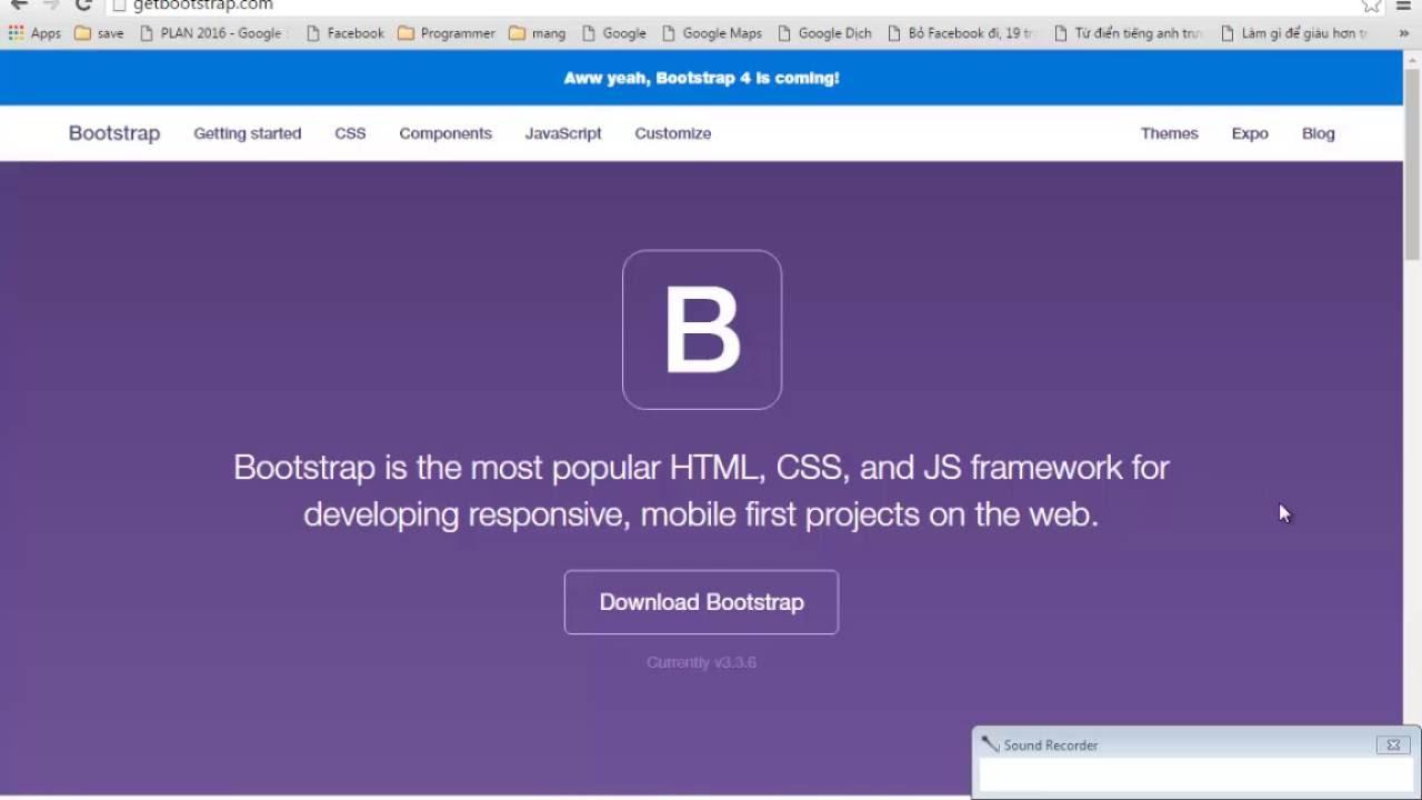 Hướng dẫn sử dụng thư viện Bootstrap với những bạn mới bắt đầu.