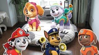 Пять щенков прыгали в кроватке (щенячий патруль)