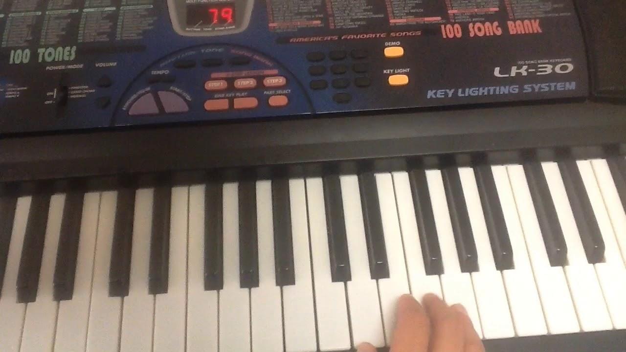 casio lk 30 music keyboard 61 key piano youtube. Black Bedroom Furniture Sets. Home Design Ideas