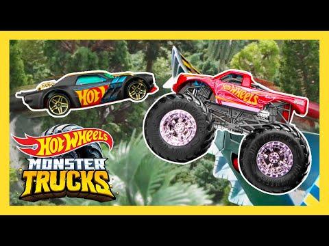 Epic Beach Loop Challenge On Monster Trucks Island! | Monster Trucks | Hot Wheels