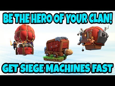 NO SIEGE? NO PROBLEM! GET SIEGE MACHINES FAST! BE THE CLAN HERO! GET TH12 ACCOUNT | COC