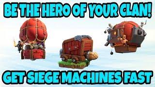 NO SIEGE? NO PROBLEM! GET SIEGE MACHINES FAST! BE THE CLAN HERO! GET TH12 ACCOUNT   COC