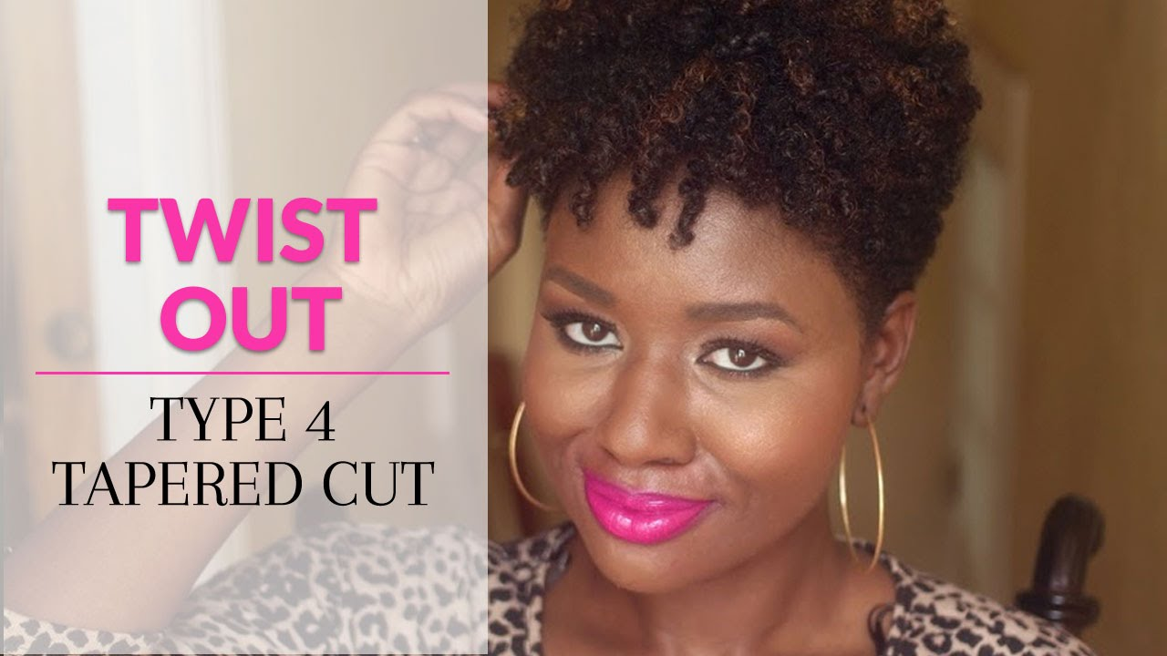 Twist Out on Type 4 Natural Hair Tapered Cut - YouTube