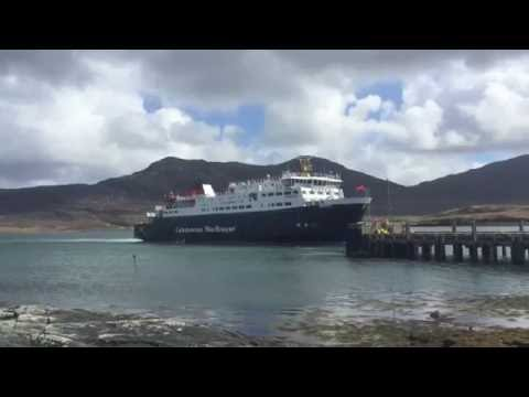 CalMac Ferry mv Hebrides at Lochmaddy - ScotVlog 67