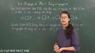 Toán 6 [Đại số]: Giải bài 115 đến 119 SGK tập 1 (Số nguyên tố. Hợp số. Bảng số nguyên tố)