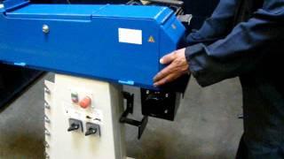 changing from pipe notcher to belt grinder wechsel von rohrausschleifer zu bandschleifer