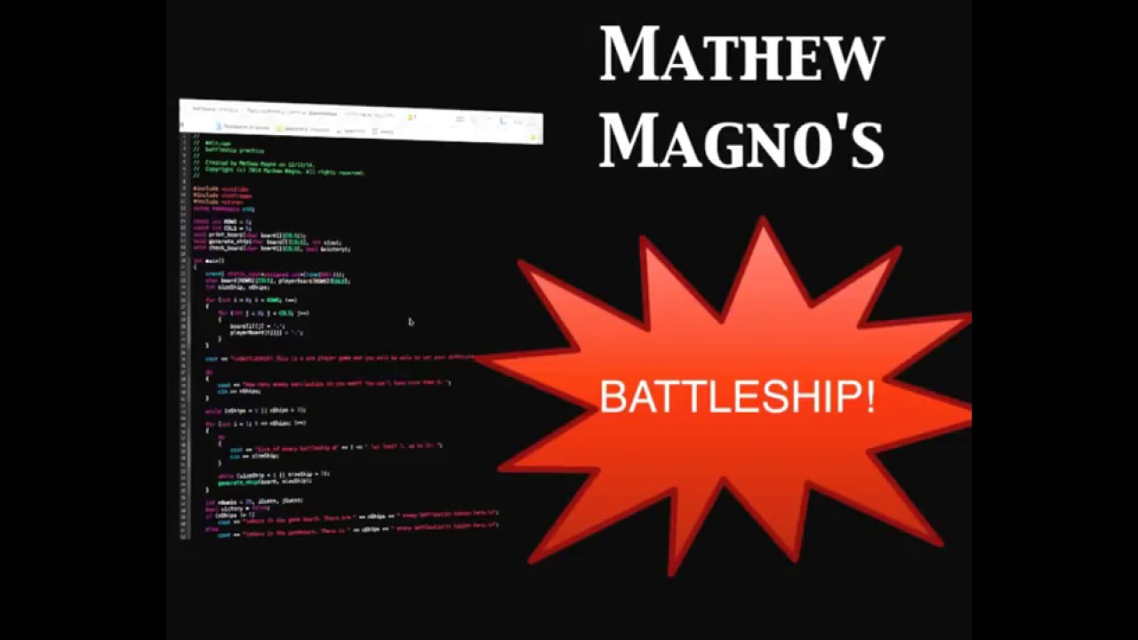how to create a battleship game using python