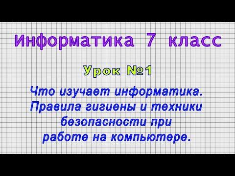 Видеоуроки по информатике 7 класс скачать