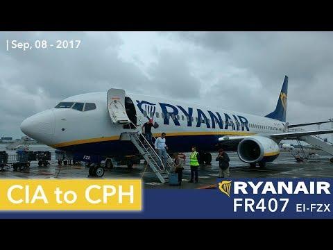 ✈ FLIGHT REPORT ✈ Ryanair B737-8AS | Rome CIA - Copenhagen CPH | FR407