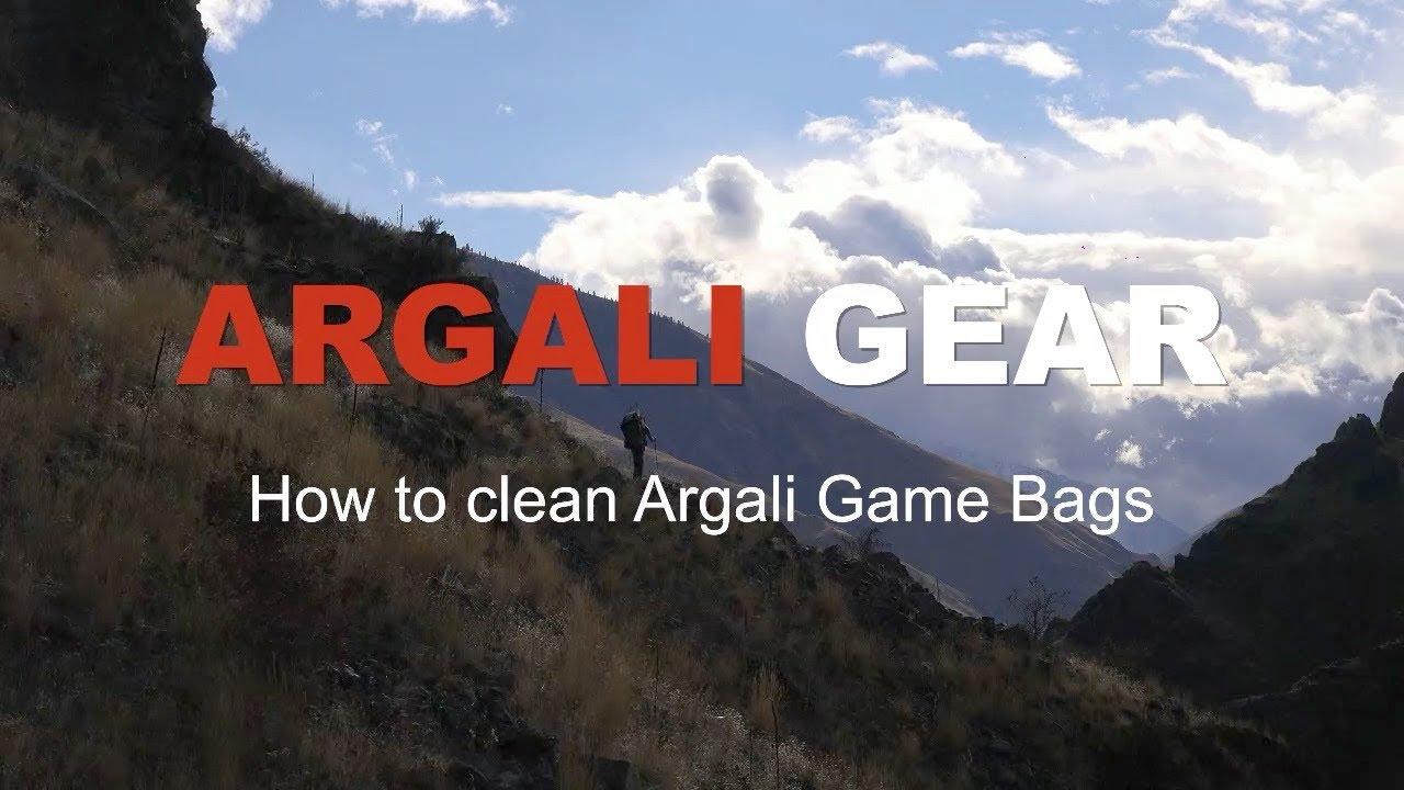Argali Gear: How to wash Argali Lightweight Game Bags