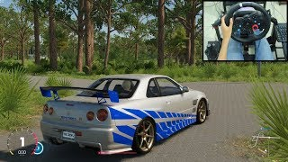 Nissan Skyline R34 GTR - The Crew 2 | Logitech g29 gameplay