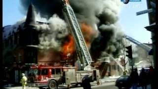 Пожар здания видео(Смотреть видео пожара здания и то как пожарные тушат пожар., 2013-08-26T13:47:22.000Z)