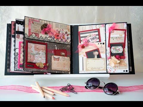 scrapbook mini album polaroids themed with rossibelle from prima youtube. Black Bedroom Furniture Sets. Home Design Ideas
