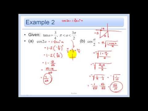 14.7 - Apply Double-Angle and Half-Angle Formulas
