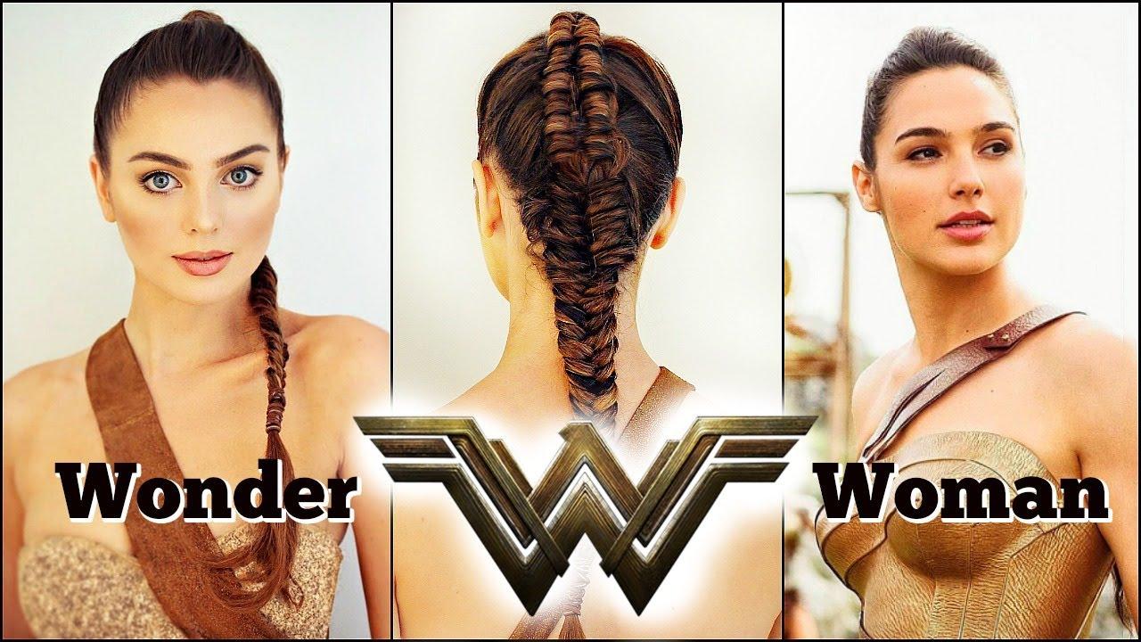 Wonder Woman Movie 2017 Makeup Braid Tutorial Gal Gadot Youtube