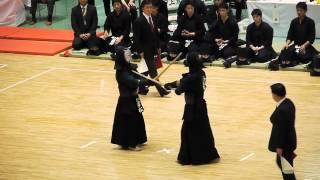 2012関東学生剣道優勝大会 準々決勝 大将 國士舘 安藤 vs 慶大 若松
