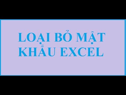 Phá password Excel 100% thành công trong tích tắc