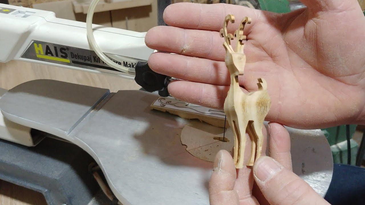 Hais Dekupaj Kıl Testeresi İle 3D Karaca Hekel Yapımı. ( Kiaraz Ağacı ) #woodworking #wood #wooden