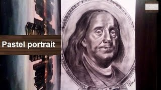 Benjamin Franklin Portrait ( time lapse drawing )