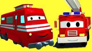 Troy El Tren y todos sus amigos en Auto City: el Camión de Bomberos, Tom la Grúa, ¡y muchos más!