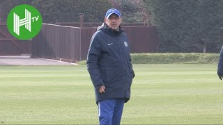 Under-fire Maurizio Sarri leads Chelsea training ahead of Malmo clash