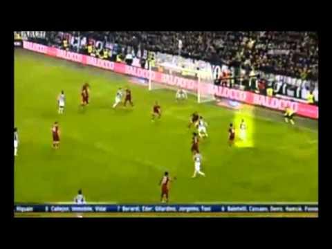 Gol di Arturo Vidal - Juventus vs Roma 1-0 05/01/2014