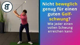Nicht beweglich genug für einen guten Golfschwung? Wie jeder einen vollen Schwung erreichen kann