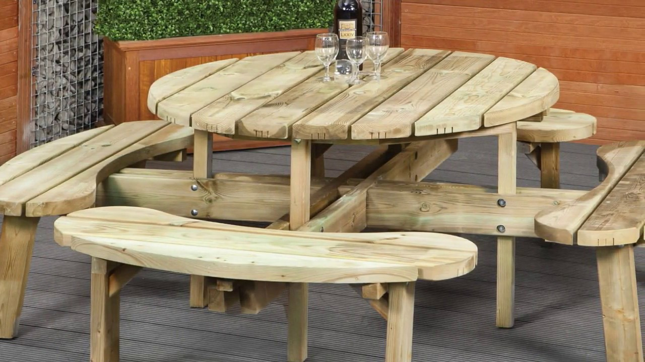 picnic table bench wood seat plans ideas