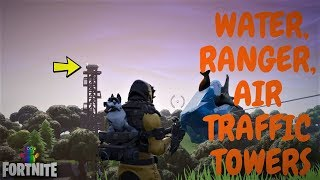 Fortnite - SEASON 7 WEEK 5 CHALLENGES - DANCE IN TOP OF WATER, RANGER AND AIR TRAFFIC CONTROL TOWER
