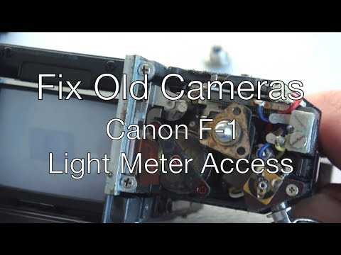 Fix Old Cameras: Canon F-1 Meter Access