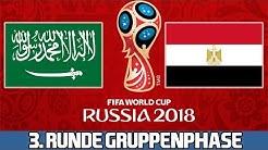 SAUDI ARABIEN : ÄGYPTEN   3. Runde Gruppenphase   FIFA WM 2018 Prognose