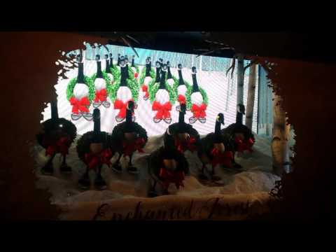 Enchanted Forest window at Hudson's Bay Co. Toronto 2016