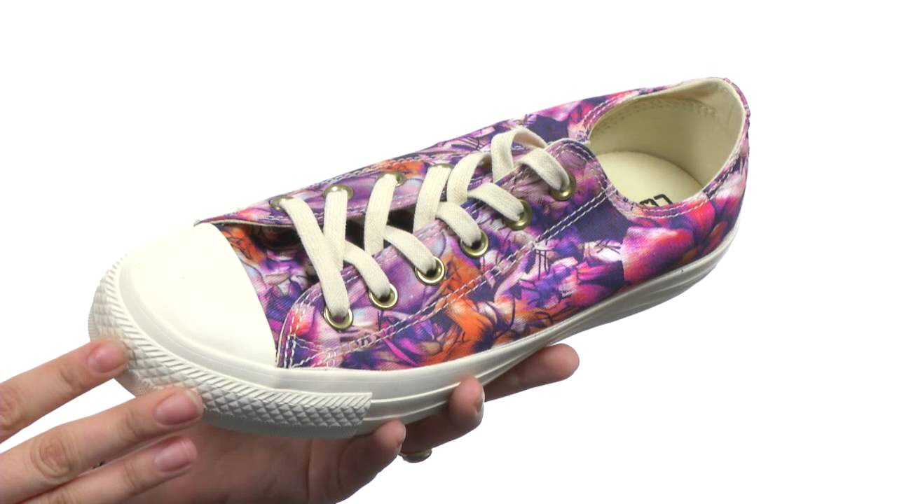 d6080a8c8ade Converse Chuck Taylor® All Star® Floral Print Ox SKU 7532010 - YouTube