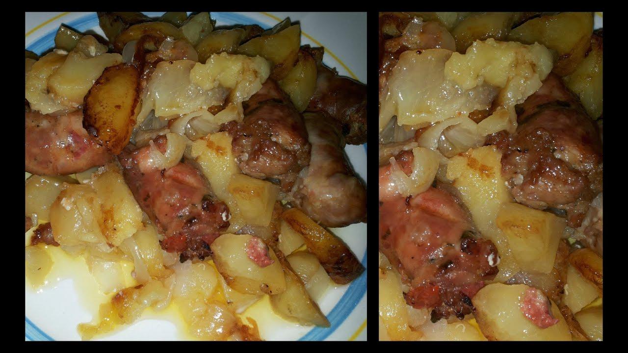 video ricetta salsiccia al forno con patate cucinare facile