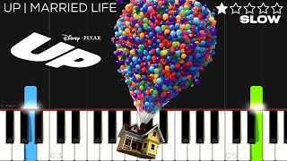 Up - Married Life   SLOW EASY Piano Tutorial