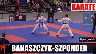 MP Karate WKF: Banaszczyk Dorota vs Szponder Natalia (Kumite Indywidualne Kobiet -55 KG)