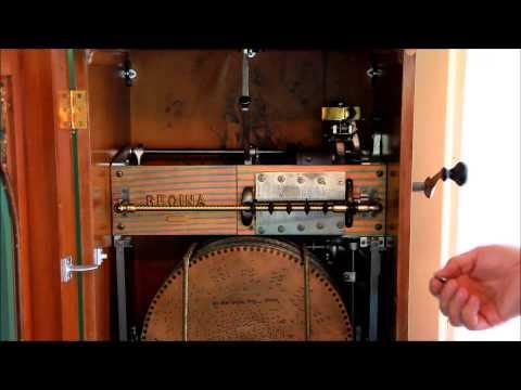 Vintage Regina Corona No 36 Coin Op Automatic Disc Changer Music Box
