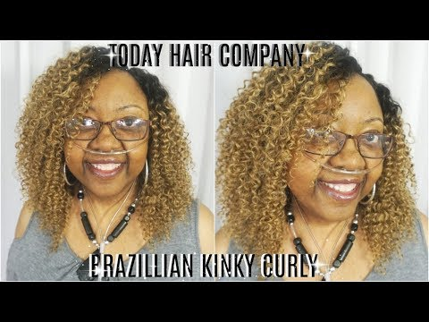 HOW TO SEW A FULL WIG WITHOUT A LACE CLOSURE FT TODAY ONLY BRAZILIAN KINKY CURLY HAIR PETALISBLESS