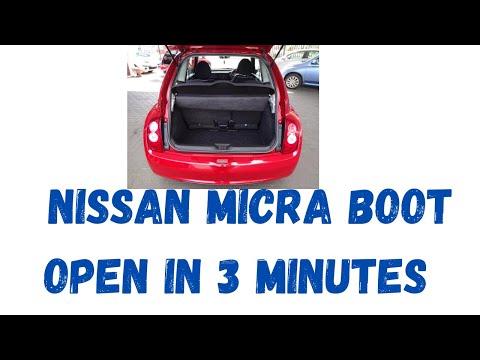 Nissan Micra K12 boot tailgate lock catch solenoid mechanism 2003-2010 March