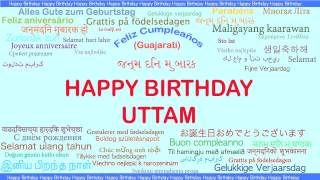 Uttam   Languages Idiomas - Happy Birthday