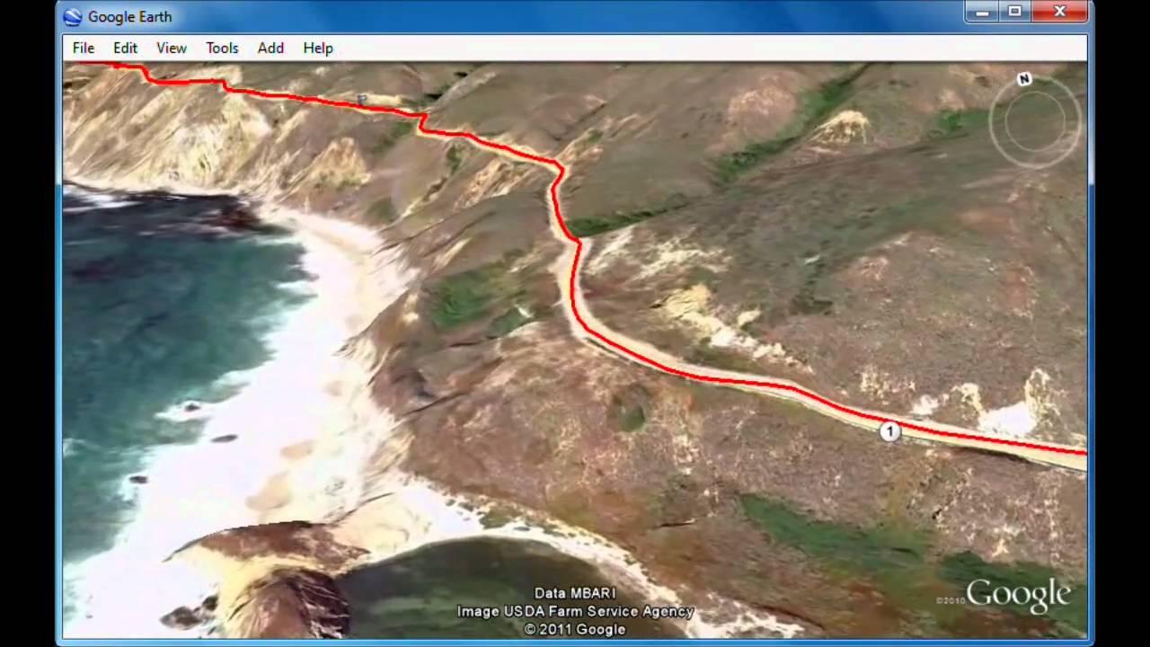 Big Sur Half Marathon Elevation Map.Big Sur Marathon Virtual Course Youtube