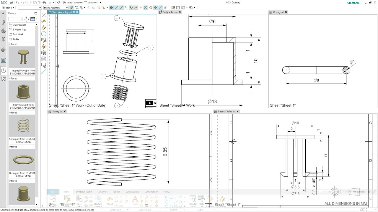 Siemens Nx Valve Parts Assembly Drawing Coffee Machine