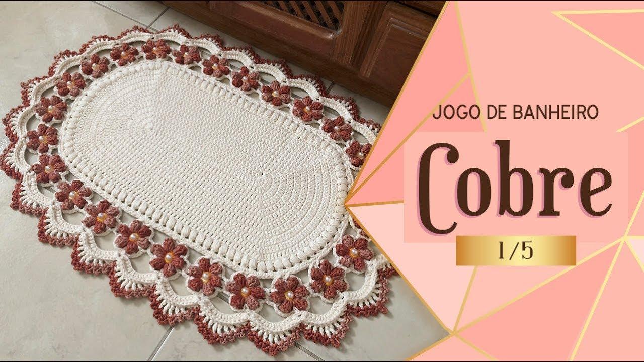 Tapete De Croche Frente De Pia Cobre 1 5 Jogo De Banheiro Cobre